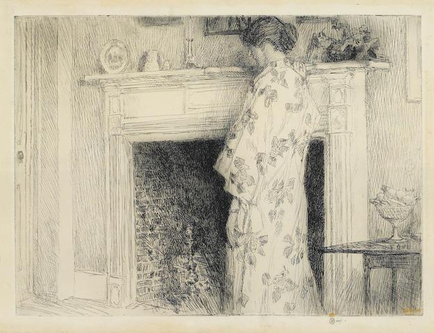 Childe Hassam (1859-1935); The White Kimono;