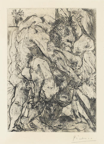Pablo Picasso, Le Viol sous la Fenetre, (B.183), 1933, Etching, aquatint and drypoint, Signed (mat burn)