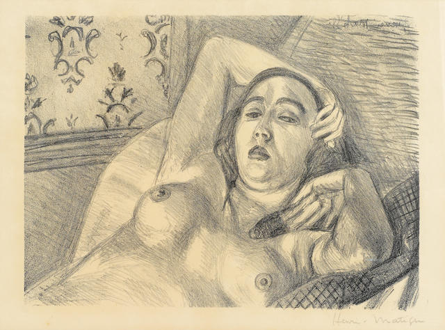 Henri Matisse (French, 1869-1954); Le Repos du Modele (D. 416) 1922 lithograph ed. 575;