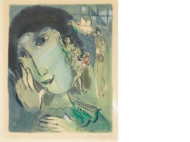 Marc Chagall (1887-1985); Le Poète ;