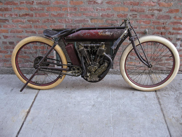 First Indian Motorcycle built in 1912,1912 Indian 61ci Board Track Racer Engine no. 70D0001