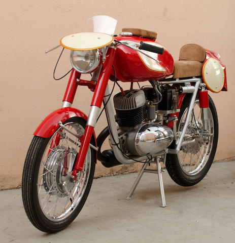 One of three constructed,1957 Moto Islo 175cc Grand Sport Frame no. 09028 Engine no. 09028