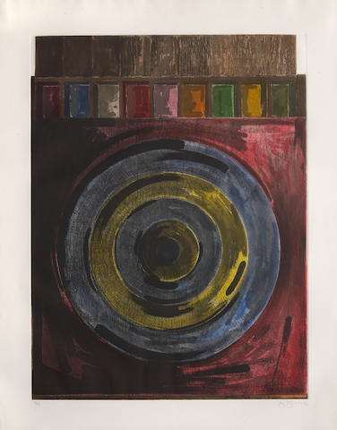 Jasper Johns (born 1930); Target with Plaster Casts;