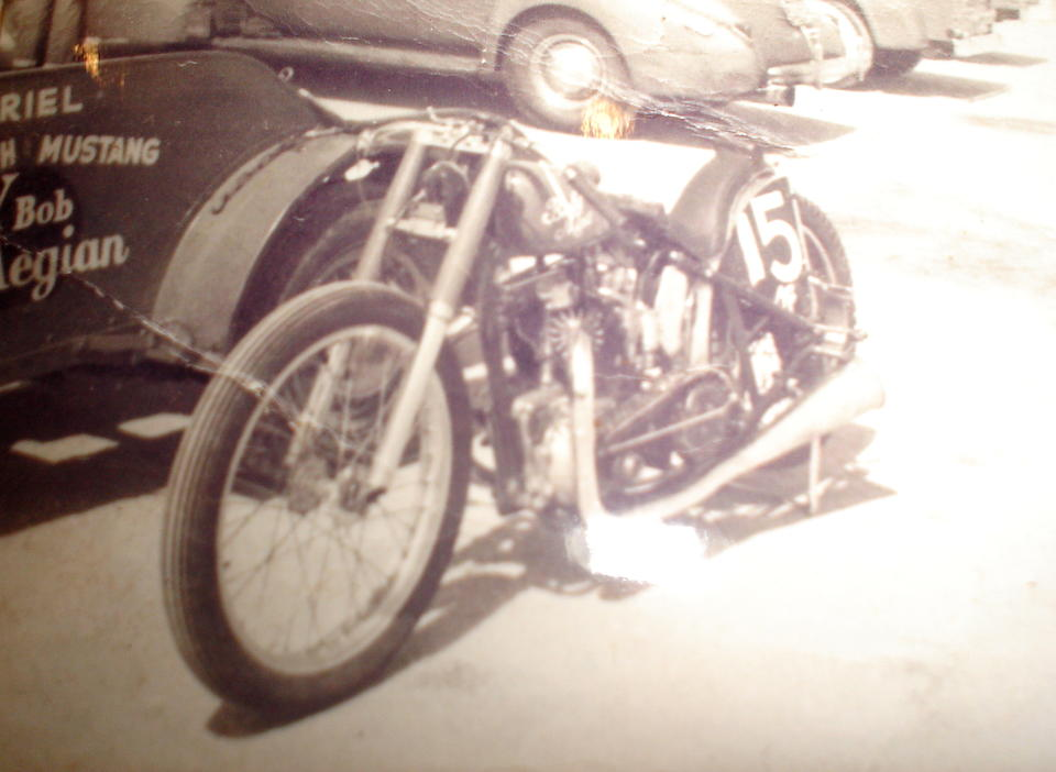 """Featured on the television show """"You Asked For It"""",1951 Triumph Thunderbird 650 Baby Mine Dragbike  Frame no. 6T 4928NA Engine no. 6T 4928NA"""