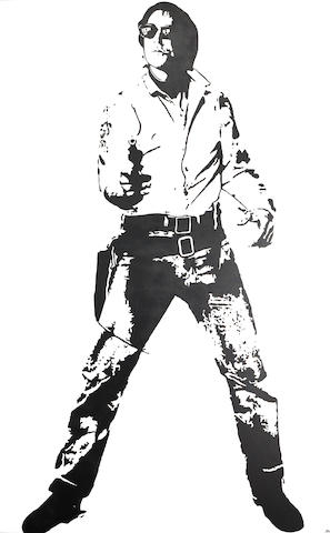 Blek Le Rat (b. 1952) Space Cowboy