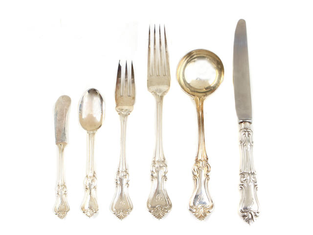 An Elizabeth II sterling silver assembled part flatware service for fourteen Langfords Silver Galleries, London, most pieces 1969