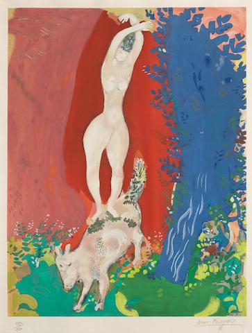 after marc chagall Femme de cirque;