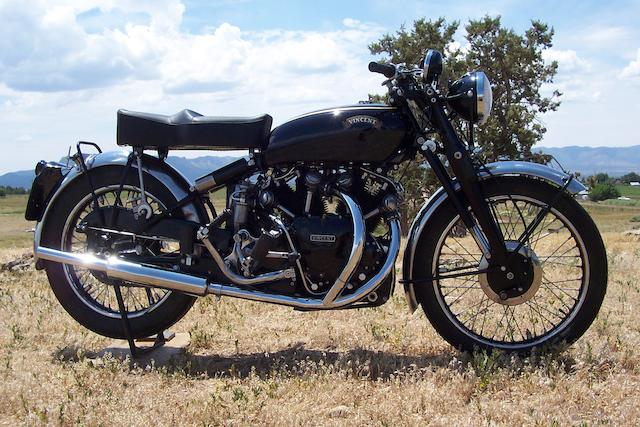 1952 Vincent 998cc Black Shadow Frame no. RC10581BC Engine no. F10AB/1B/8681