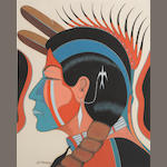 Two Kiowa gouaches
