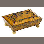 A Regency penwork sewing box early 19th century