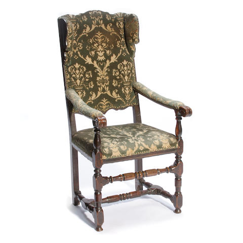 An Austrian Baroque fruitwood armchair