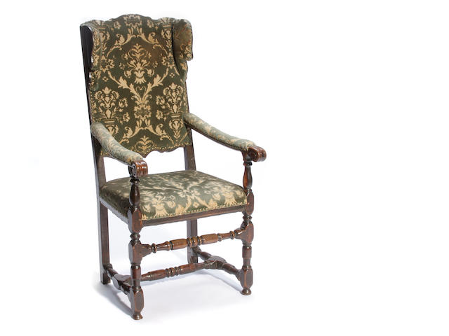 An Austrian Baroque cherrywood armchair