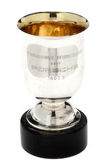 A International ADAC 1000 Km Rennen Nurburgring Porsche works team trophy awarded to Leo Levine, 1959,