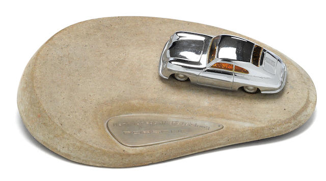 A rare Porsche 356 desk piece award,