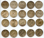 Morgan and Peace Dollars (20)