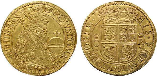 Scotland, Charles I, 1625-1649, Gold Unite by Briot (1637-42)