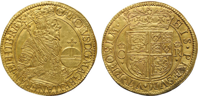 Scotland, Charles I, 1625-1649, Gold Unite by Briot (1637-42)