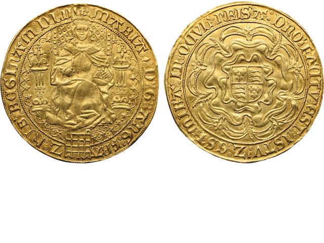 Mary I, 1553-1554, Gold Fine Sovereign, 1553
