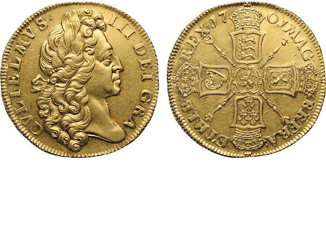 William III, 1689-1702, Gold 2 Guineas, 1701