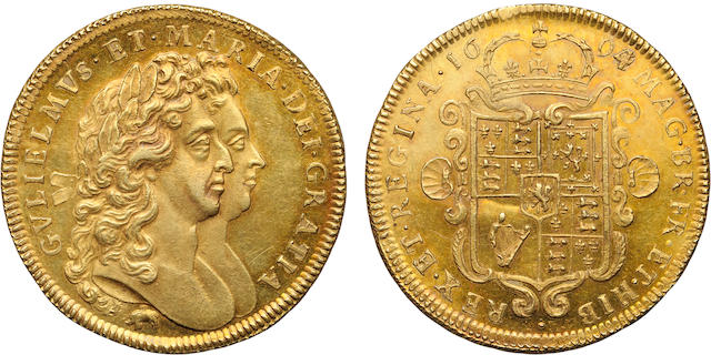 William and Mary, 1689-1694, Gold 2 Guineas, 1694/3