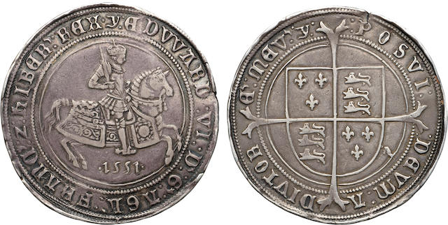 Edward VI, 1550-1553, Silver Crown, 1551