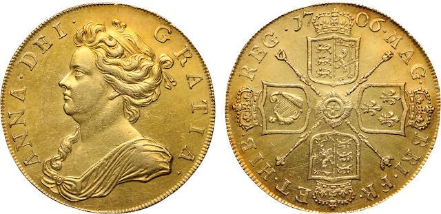 Anne, 1702-1714, Gold 5 Guineas, 1706