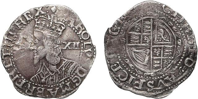 Charles I, 1625-1649, Worcester Silver Shilling (1643-44)