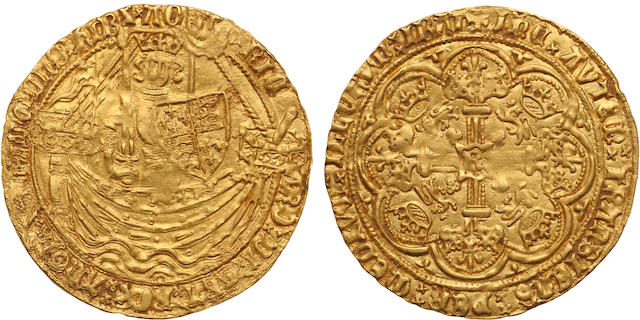 Richard II, 1377-1399, Gold Noble