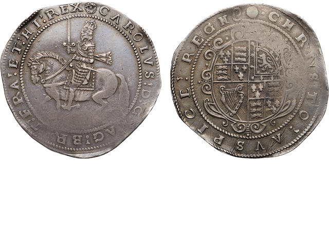 Charles I, 1625-1649, Silver Crown (1642-43)