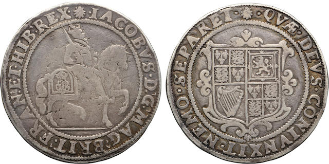 James I, 1603-1625, Silver Halfcrown (1606-7)