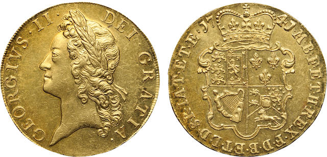 George II, 1727-1760, Gold 5 Guineas, 1741