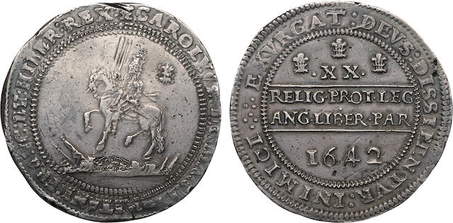 Charles I, 1625-1649, Silver One Pound, 1642
