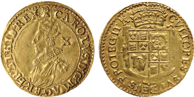 Charles I, 1625-1649, Gold Double Crown