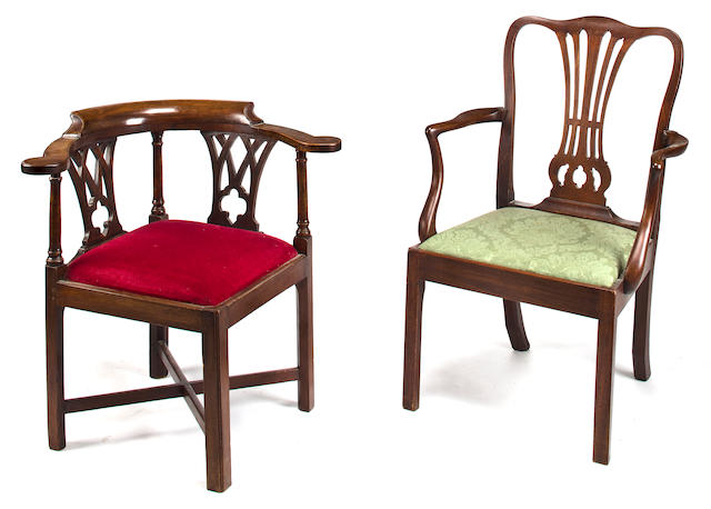 Two corner chairs