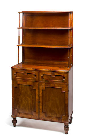 A Regency mahogany etagere cabinet<BR />early 19th century