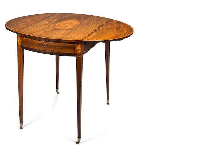 A George III inlaid mahogany Pembroke table fourth quarter 18th century