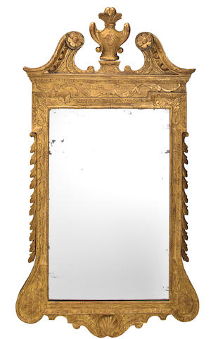 A George II giltwood and gilt gesso mirror  mid-18th century