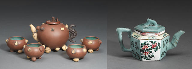 A group of Yixing stoneware