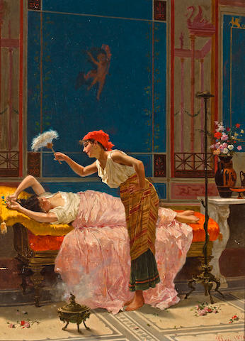 Paolo mei (Italian, d. 1899) An idle hour