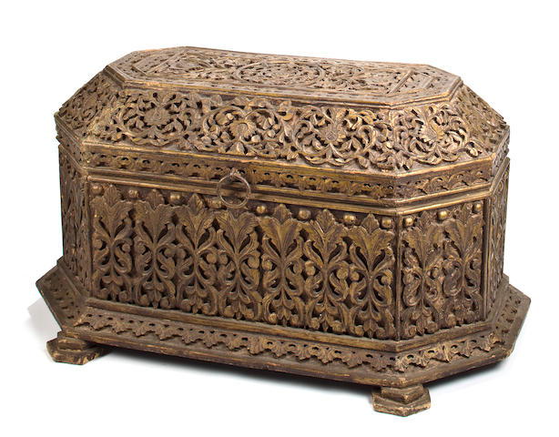 A large wooden casket Sri Lanka, 18th/19th century