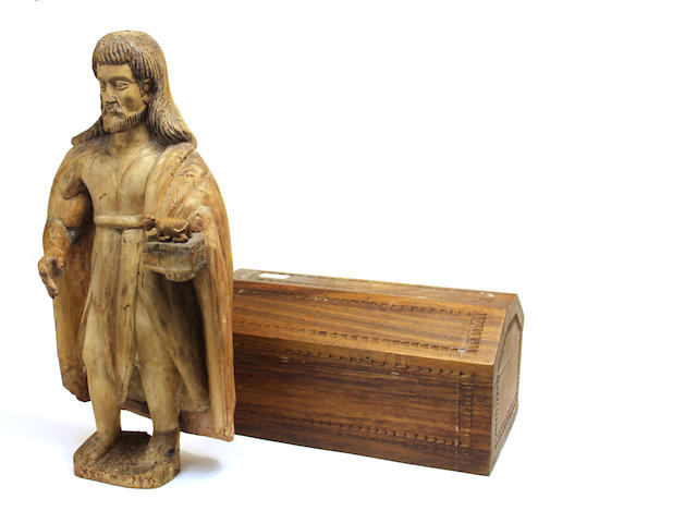 A Spanish Colonial carved wooden figure of Christ