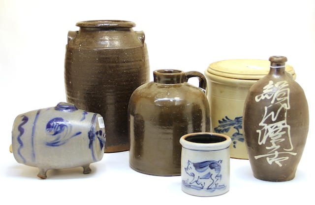 A group of American stoneware