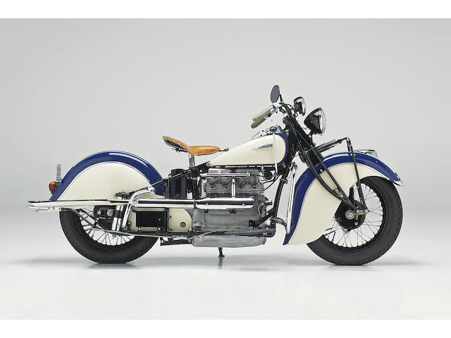 1941 Indian 4 Cylinder Sidecar Combination