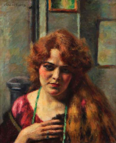 Pierre-Charles Guerin des Longrais (French) Femme moderne 26 1/2 x 23 1/2in