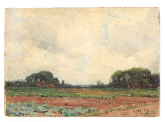 Anna Althea Hills (American, 1882-1930) Across the fields, Laren, Holland