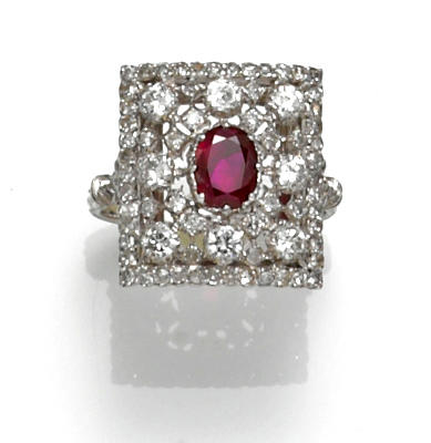A diamond and ruby ring, Buccellati