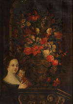 Italian School, 18th Century A pair of floral still lifes 35 1/2 x 25 1/2in