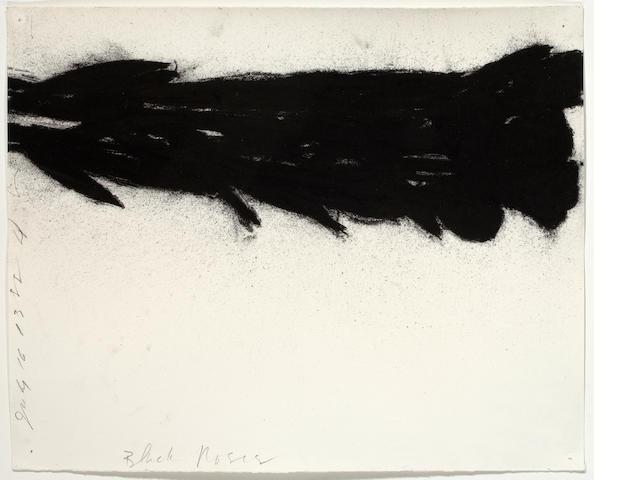Donald Sultan (born 1951) Black Roses, July 16, 1988 14 x 17 1/2in. (35.5 x 44.4cm)