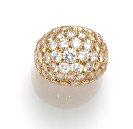 A diamond pavé-set dome ring, Van Cleef & Arpels