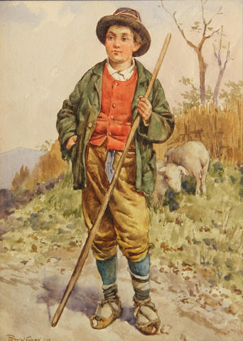 Percy Gray, Shepherd, 9 x 6 1/2in